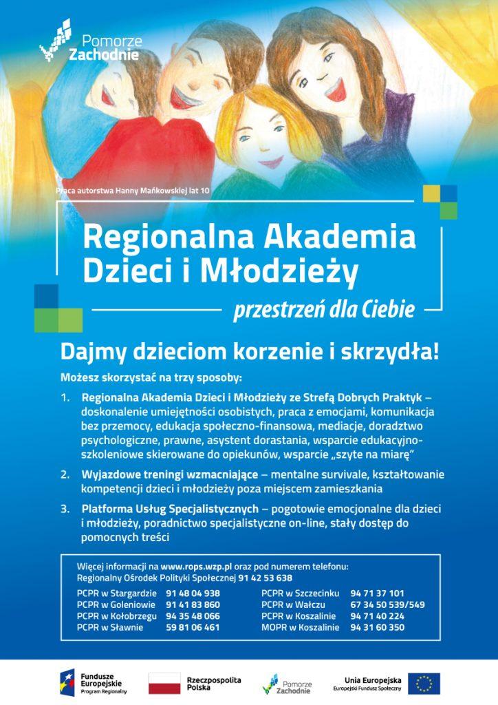 Plakat Regionalnej Akademii Dzieci i Młodzieży