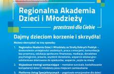 """Więcej o: Rozpoczęło realizację Projektu """"Regionalna Akademia Dzieci i Młodzieży"""""""